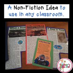 A great idea to incorporate more non-fiction reading in the classroom.