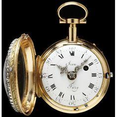 Pocket Watch  by Jean Fazy of Geneva Switzerland, circa 1765-1770.  (Face of watch)