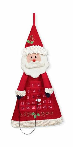 Amazon.com - Grasslands Road Santa Countdown Calendar, 30-Inch, Red