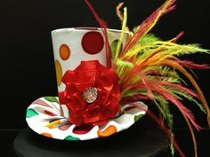 Rainbow Dots Mini Top Hat  Great for Trip to the by daisyleedesign, $25.95