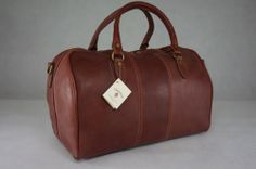 Genuine Real Italian Leather Duffle Weekend Travel Overnight Bag Holdall Luggage