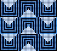 Artwork by at Grid Paint. Crochet Bedspread Pattern, Tapestry Crochet Patterns, Mosaic Patterns, Loom Patterns, Crochet Stitches, Quilt Patterns, Cross Stitching, Cross Stitch Embroidery, Cross Stitch Patterns