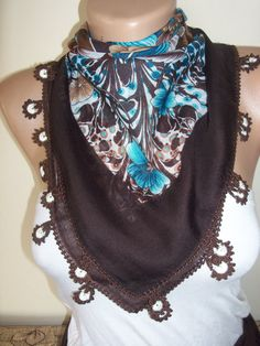 Brown DaisyGorgeous Turkish Traditional by colourfulrose on Etsy, $29.90