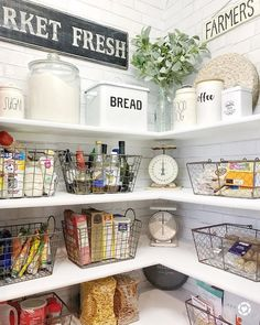 "My organized pantry. Farmhouse 822 Likes, 29 Comments - The Downtown Aly ™ (@thedowntownaly) on Instagram: ""Nothing is better than a clean pantry! I got a lot of questions about where I got most of my items…"""