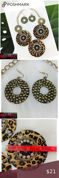 Chic Hand Make Leather Earrings Leopard Print Ear Hook Jewelry Earring SY* ^
