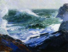 Avanti e indietro, olio su pannello di George Wesley Bellows (1882-1925, United States)