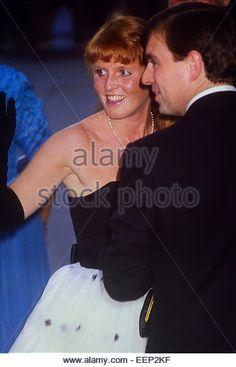 Prince Andrew, Duke of York and Sarah Ferguson, Duchess of York. 1986. London - Stock Image