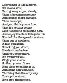 Depression quote I know what your saying been there