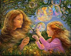Butterflys and Bubbles by Josephine Wall