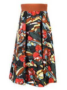 MARNI Marni Floral Print Skirt. #marni #cloth #skirts