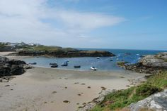 View of the beach from Gull House - Trearddur Bay, Anglesey | Great Escapes Wales http://www.greatescapeswales.co.uk/properties/Gull-House/75629/