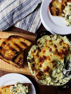 Creamy Cheesy Artichoke Asparagus Kale Dip