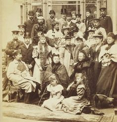 Royal family group photograph at Coburg following the wedding of Princess Victoria Melita of Saxe-Coburg and Gotha, and Grand Duke Ernest of Hesse, April 1894