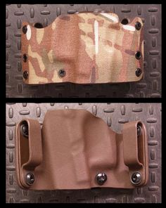"""The Pygmy.  Primal Options smallest OWB holster, just 3"""" tall and about 6"""" wide.  Shown in .08"""" thick Super-Cam Kydex."""
