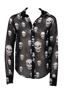 Sheer Skull Shirt :: WANT! Dots.com :: Affordable women's clothing & fashion accessories in sizes