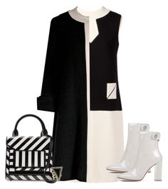 """""""Color On This Month: Black And White (Win Trophy)"""" by dazzlious ❤ liked on Polyvore featuring Nina Ricci, Pierre Cardin, Gianvito Rossi, Pierre Hardy, House of Harlow 1960, women's clothing, women, female, woman and misses"""
