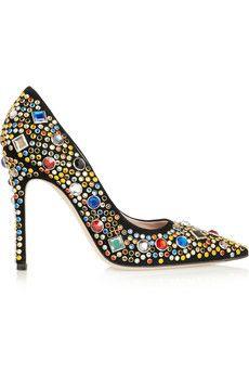 Miu Miu Embellished suede pumps | NET-A-PORTER #Miu Miu #pumps #shoes