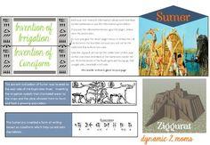 Ancient Civilizations Unit Printable Minibook on Sumer