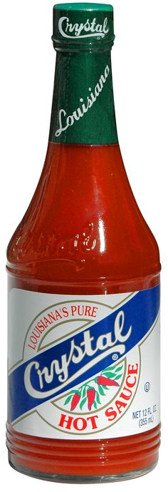 """Crystal Hot Sauce - can't say enough about this stuff.  The heat is perfect, addictive.  Not so hot to ruin the experience (Tabasco).  BUY SOME TODAY!  I """"heart"""" Crystal Hot Sauce."""