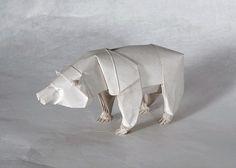 Beautiful #origami #art of a #polarbear