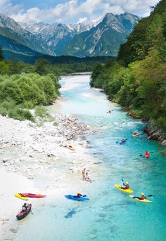 #Kayak in Bovec | Slovenia (by rmaltete) I Would so love to do this! Like, Repin, Share, Follow Me! Thanks!
