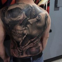 Backpiece Tattoo, Skull Tattoos, Body Tattoos, Sleeve Tattoos, Cross Tattoos, Back Of Leg Tattoos, Arm Tattoos For Guys, Future Tattoos, Tattoo Son