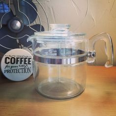 Pyrex Vintage Flameware 6 Cup Coffee Pot Percolator Complete 7756 Glass | eBay