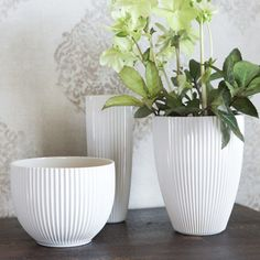 Vekki Vase | Solid and beautiful ceramic pleats suit the pot as well as your best skirt! Made in our own pottery in Posio, Finnish Lapland. Candle Holders, Ceramics, Candles, Pottery, Pot, Home Decor, Vase, Beautiful Candles