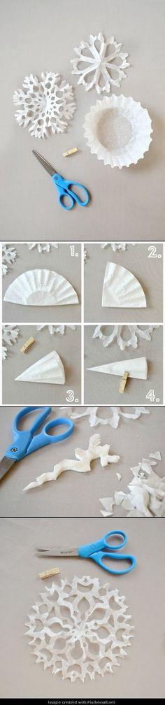 用蛋糕纸材料来制作剪纸雪花 - 堆糖 发现生活_收集美好_分享图片