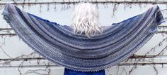 mng's Desperately Seeking Denim Crescent. free pattern of my crochet shawl design coming soon on Ravelry.
