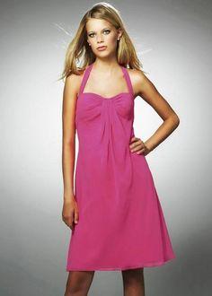 7d835fb73a882 A-line Halter Ruched Short Bridesmaid Dress Discount Bridesmaid Dresses