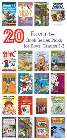20 Book Series Recommendations for Boys, Grades 1-3    The Chirping Moms