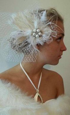 Hair Fascinator with veil