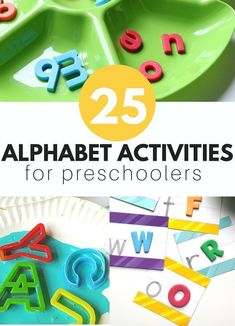 Fun and easy to throw together alphabet activities for kids and early childhood education classrooms. These alphabet activities for kids are fun too. You are in the right place about Montessori Activi Activities For 5 Year Olds, Crafts For 3 Year Olds, Preschool Learning Activities, Preschool Lessons, Alphabet Activities, Preschool Crafts, Preschool Songs, Preschool Ideas, Toddler Activities