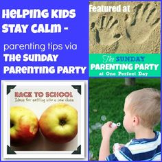 The Sunday Parenting Party - a linky full of parenting tips and ideas. This week's features include ways to help kids refocus and calm down when they're upset.