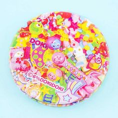 6%DOKIDOKI Colorful Rebellion Compact Mirror - Blippo Kawaii Shop Convex Mirror, Kawaii Accessories, Kawaii Shop, Compact Mirror, Outdoor Blanket, Super Cute, Colorful, Tableware, Illustration