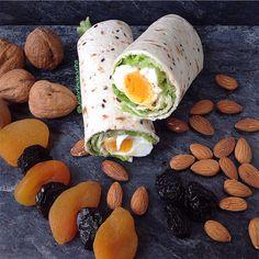 My Casual Brunch: Wrap Saudável com queijo creme e ovo cozido