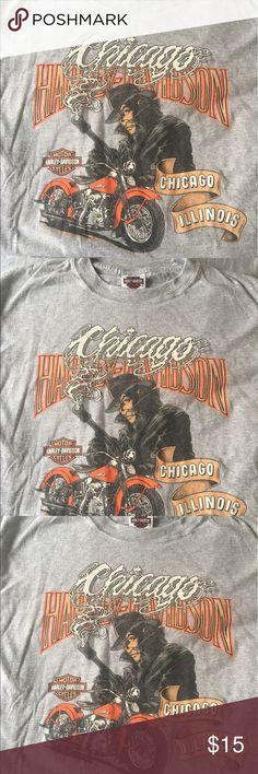 Harley Davidson Chicago, IL Grey, M, T-shirt Harley Davidson Chicago, IL Grey,Short Sleeve , Medium T-shirt Harley-Davidson Shirts Tees - Short Sleeve