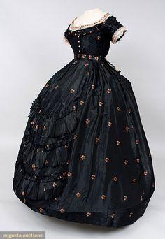 Late 1860's silk brocade