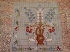 Χειροτεχνήματα: Σχέδια της Ντε μι σε για κέντημα / DMC cross stitch patterns Dmc Cross Stitch, Stitch 2, Cross Stitch Patterns, Stitching Patterns, Embroidery Patterns Free, Vintage Embroidery, Greek Design, Oriental, Tapestry Crochet