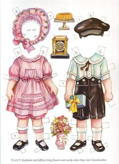 Twin tots of the twenties - Pia Larsson - Picasa Web Albums Stephanie and Jeffry dressed up Paper Toys, Paper Crafts, Paper Doll House, Paper Dolls Printable, Christmas Tree Cards, Moda Vintage, Dress Up Dolls, Vintage Paper Dolls, Doll Clothes Patterns