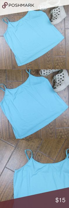 18/20 Lane Bryant Camisole Tank Top Liz Claiborne tank top, size 18/20 Stretchy Material The color is a minty blue color I feel the color is best represented in the last photo where it is up close to the tag Bust from pit to pit is 22 inches Length from the top of the shirt where the strap beings to the bottom hem is 20.5 inches  ***Offers Accepted***  Add to a bundle for an automatic discount!!!   Colors may very due to lighting, seller does its best to portray the right color. Please…