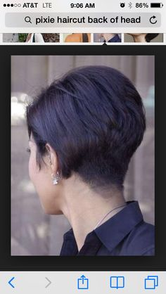 Back view of pixie cut