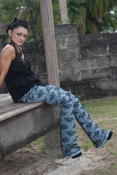 Lace Covered Jeans by LaceJeans on Etsy, $95.00