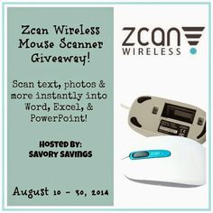Zcan Wireless Mouse Scanner #Giveaway Zcan Wireless is the world's 1st Wireless scanner mouse. It's the size and weight of a standard wireless mouse and doubles as a portable scanner for your iPad, Mac, PC, Tablet and even iPhone!