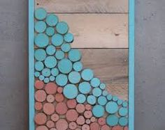 rustic mountain painting on wood - Google Search