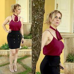 Saia botão cós alto + blusa alça fina com laço  avulso. Tá no site    ✔www.santollo.com.br   ✔☎Comercial (34) 33166586 /WhatsApp (34) 988112985 santollomodas@hotmail.com   ✔Enviamos para todo Brasil