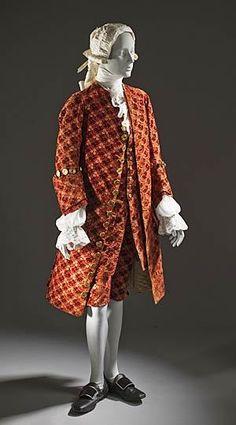 man's ensemble, c. 1755. Los Angeles County Museum of Art