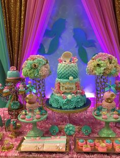 Mermaids Baby Shower Party Ideas | Photo 1 of 16 | Catch My Party