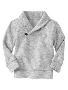 Marled shawl sweatshirt for stylish little boys